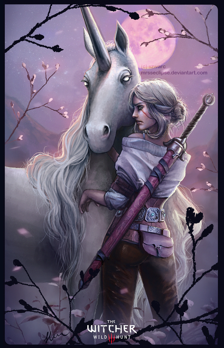 Ciri and Ihuarraquax by mrssEclipse