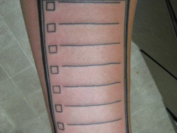 to do list tattoo