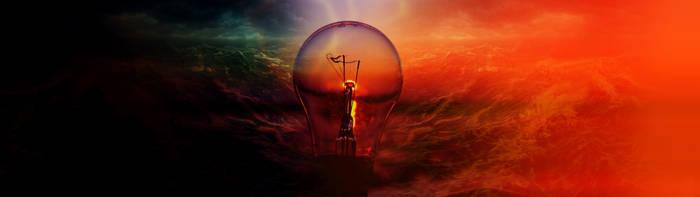 DARK VS LIGHT Wallpaper (3840*1080px) by Calabur
