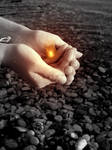 flamme dans la main