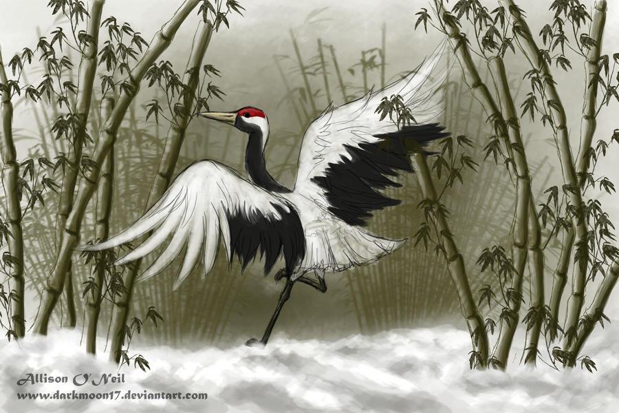 Winter Crane Art Trade by DarkMoon17 on DeviantArt - photo#20