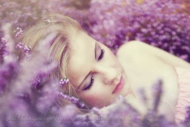 The princess on her bed of flowers 1
