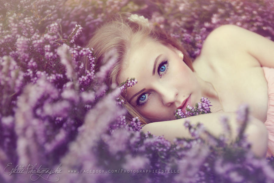 The princess on her bed of flowers 2 by Estelle-Photographie