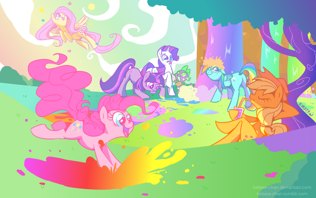 +MLP - Friendship is Vivid+ by Kelsea-Chan
