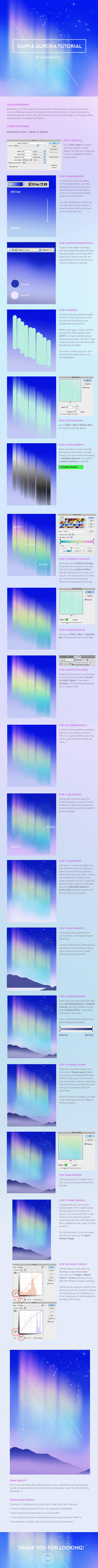 Simple aurora tutorial by sugarmints on deviantart simple aurora tutorial by sugarmints baditri Image collections
