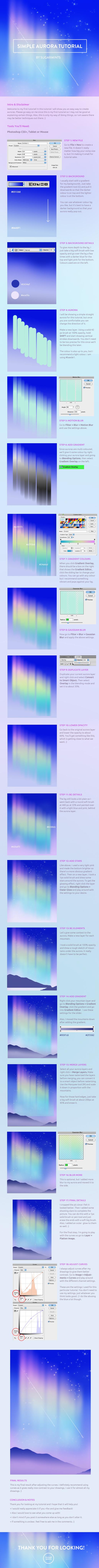 simple aurora tutorial. by sugarmints