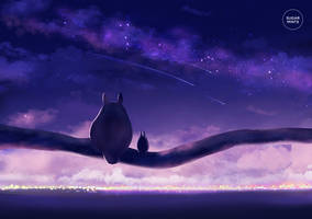 totoro: starry nights. by sugarmints