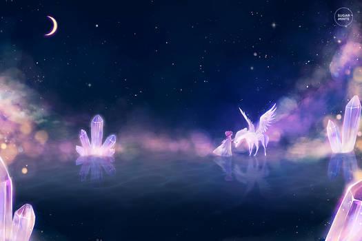 moonlit embrace.