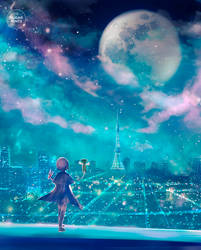 glowing night. by sugarmints