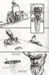 Page two of I Kill Robots by kurteinhaus