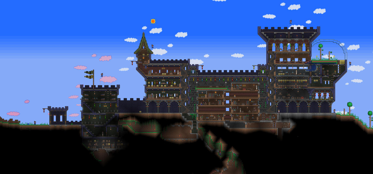 Terraria Castle By Naughty Uk On Deviantart