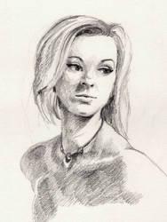 Life Drawing Portrait - Ellie