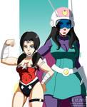 Mixed: The Great Saiya-Wonder Woman by JayQC80