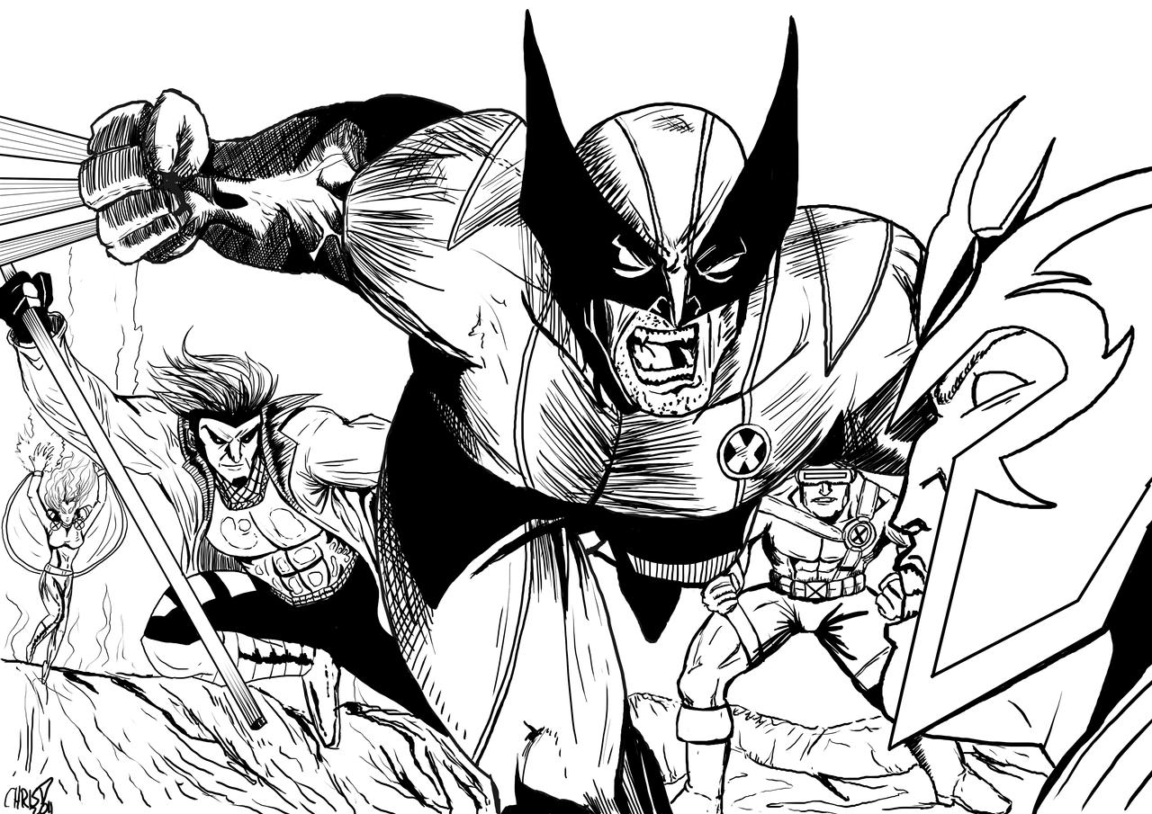 classic x men inks by derfanboy on deviantart