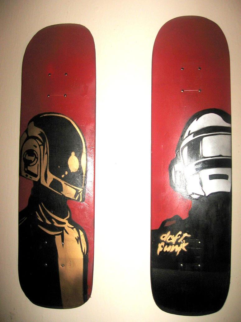 daft punk skate decks by leoski8
