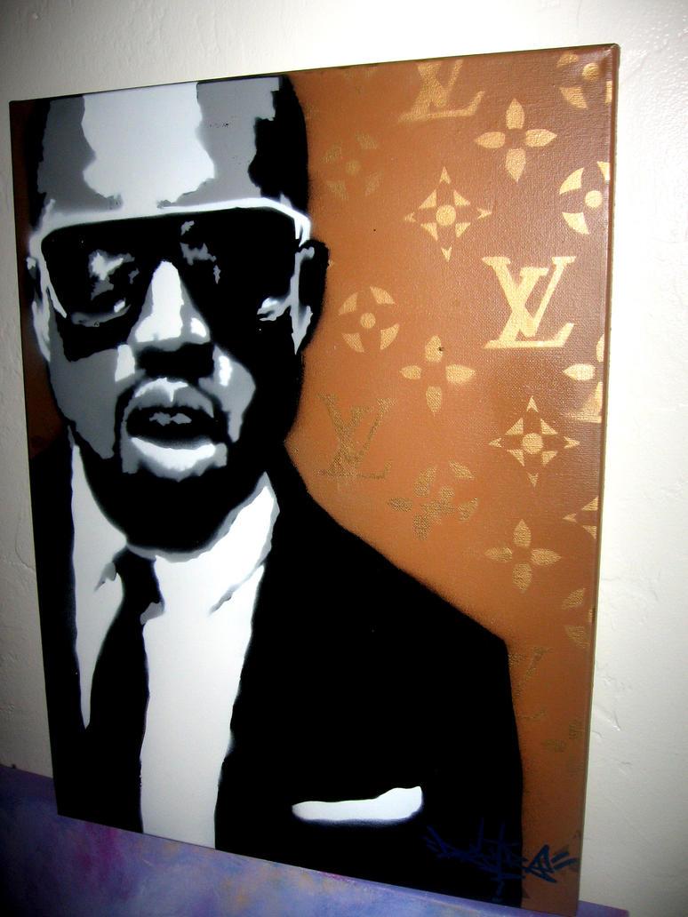 kanye stencil by leoski8