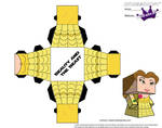 Cubeecraft of Belle from Beauty and the Beast PT2