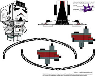 AT-AT Driver from Star Wars ESB cubeecraft PT2 by SKGaleana