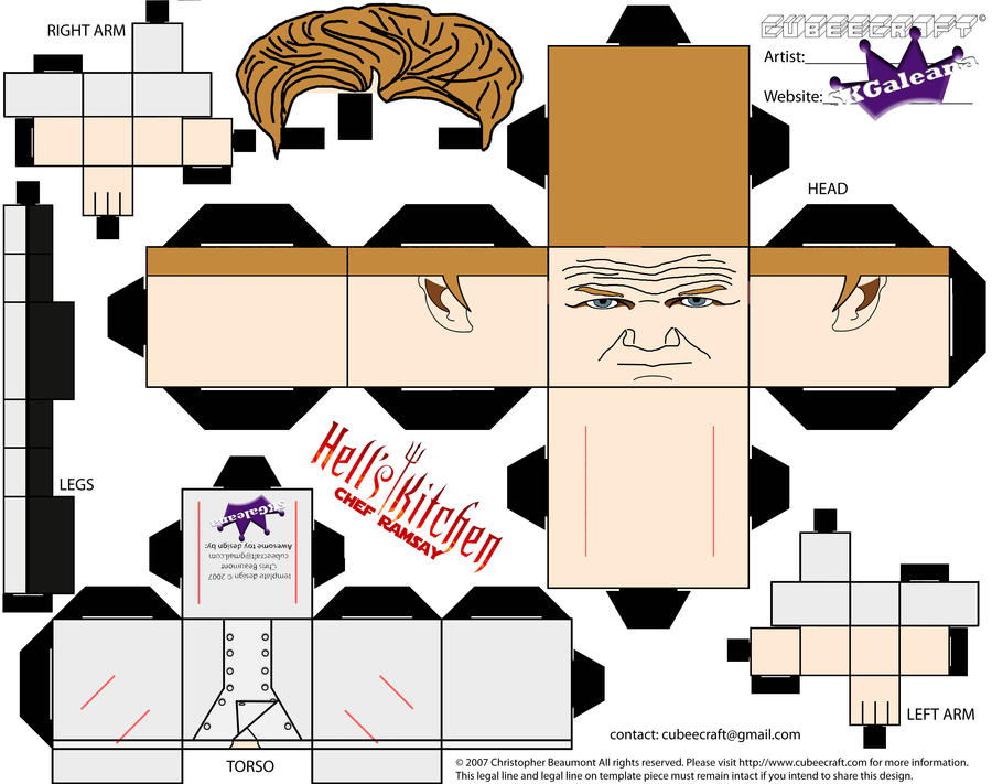Cubeecraft of Chef Gordon Ramsay Hell's Kitchen by SKGaleana