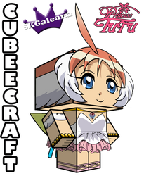 3D view Cubeecraft of Princess TuTu by SKGaleana