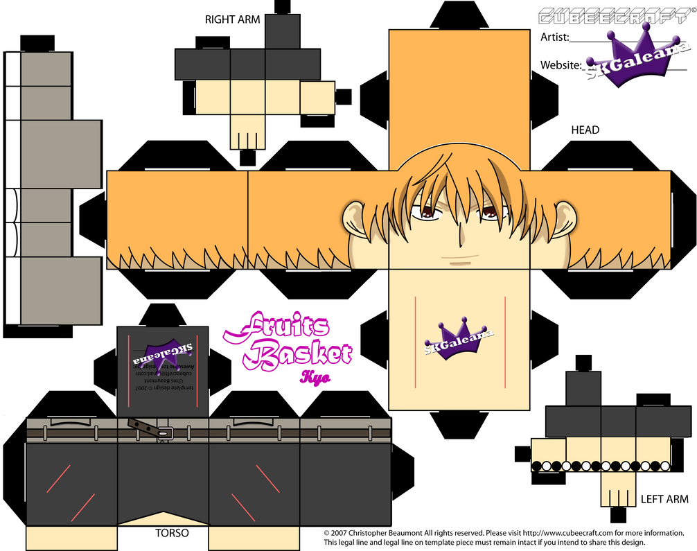 Fruit Basket Art And Craft : Kyo cubeecraft from fruits basket by skgaleana on deviantart