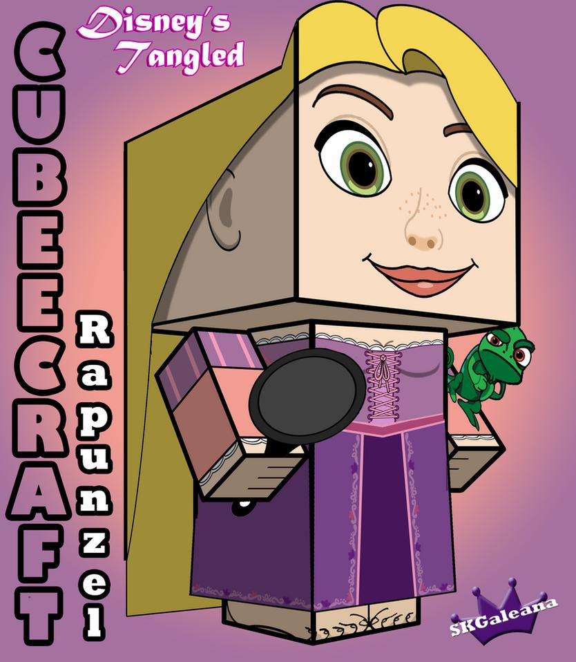 Tangled rapunzel 3d cubeecraft by skgaleana