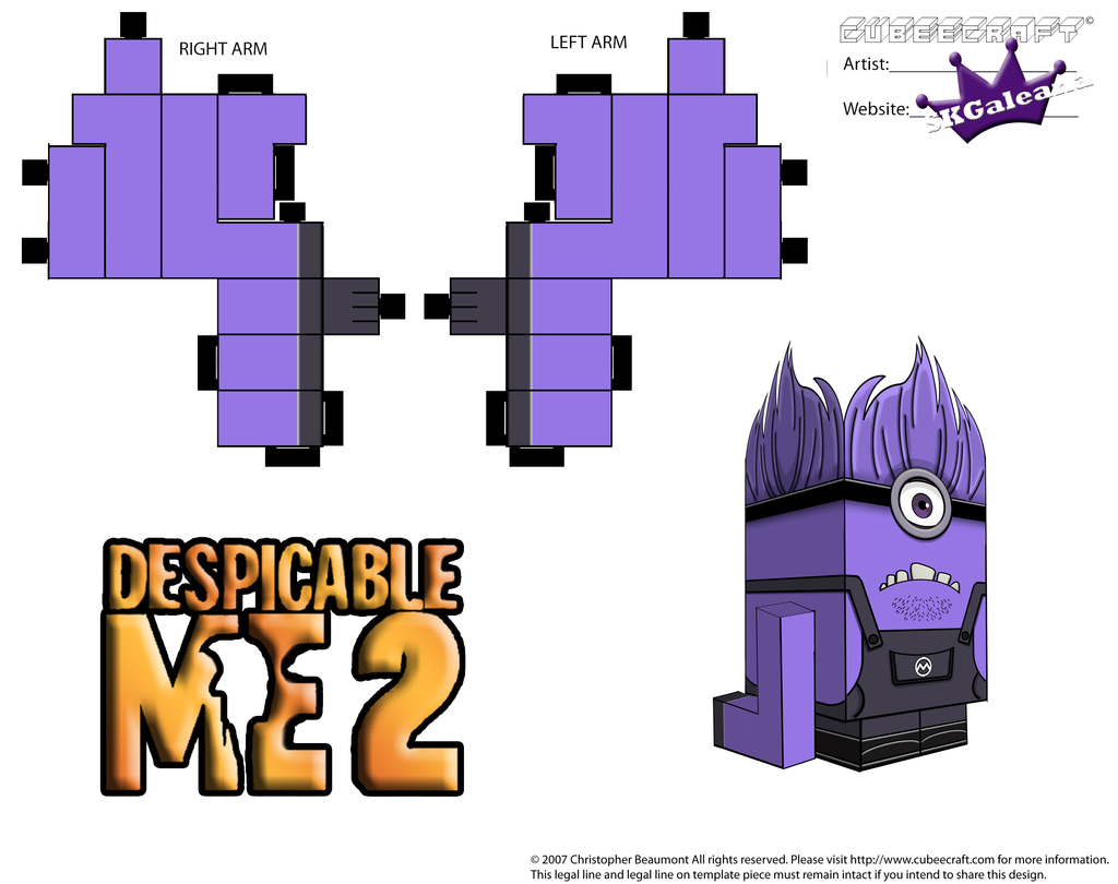 Despicable Me Evil Purple Minion Part 2 by SKGaleana on ...