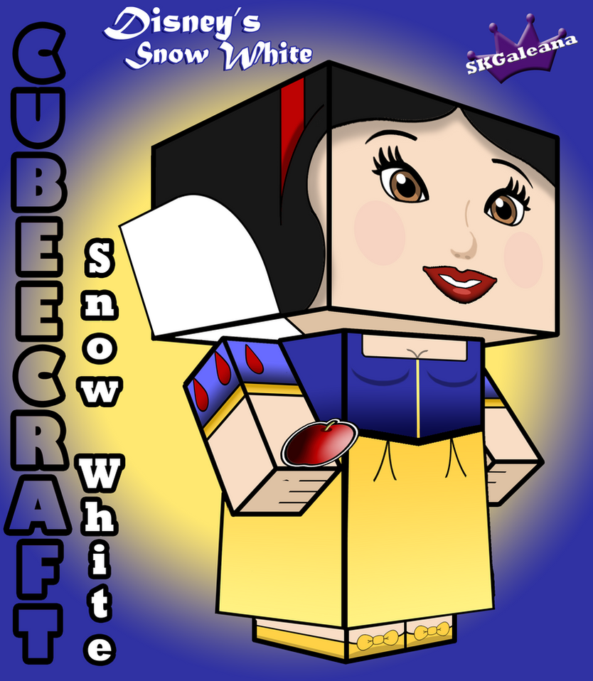 Disney's Princess Snow White 3D cubeecraft by SKGaleana