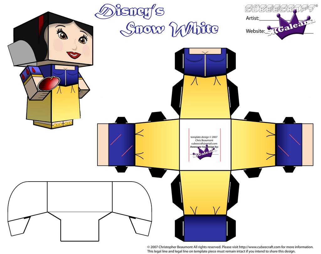 Disney's Princess Snow White Part 2 cubeecraft by SKGaleana