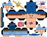 Disney Felix Jr Cubeecraft Wreck-it Ralph template