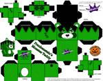 Frankenteddy Template Halloween Cubeecraft