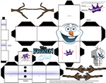 Cubeecraft template of Olaf from Disney's Frozen