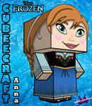 Anna From Disney's Frozen cubeecraft