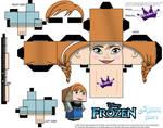 Anna From Disney's Frozen cubeecraft Template P1