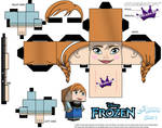 Anna From Disney's Frozen cubeecraft Template P1