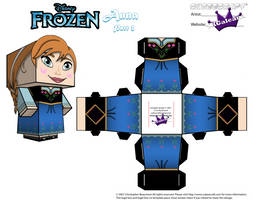 Anna From Disney's Frozen cubeecraft Template P2 by SKGaleana