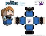 Anna From Disney's Frozen cubeecraft Template P2