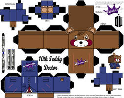 10th Doctor cubeecraft Teddy Bear from Doctor Who by SKGaleana