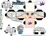 Elsa From Disney's Frozen cubeecraft Template P1