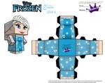 Elsa From Disney's Frozen cubeecraft Template P2