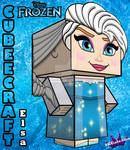 Elsa From Disney's Frozen cubeecraft 3D