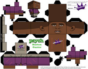 Cubeecraft of Burton Gus Guster from Psych templ