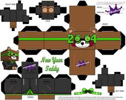 2014 New Year Teddy Bear Cubeecraft Green template by SKGaleana
