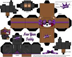 2014 New Year Teddy Bear Cubeecraft Purpl template by SKGaleana