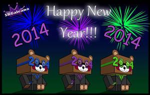 Happy New Year Teddy Bear Cubeecrafts for 2014 by SKGaleana