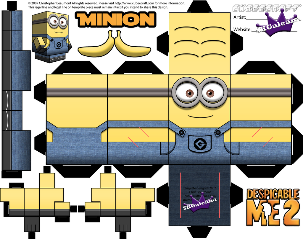 Despicable Me Minion With Two Eyes Template By SKGaleana On DeviantArt