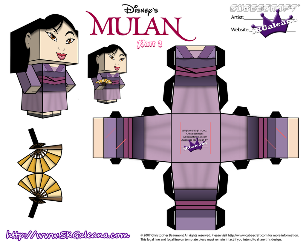 disney princess mulan cubeecraft purple dress pt2 by