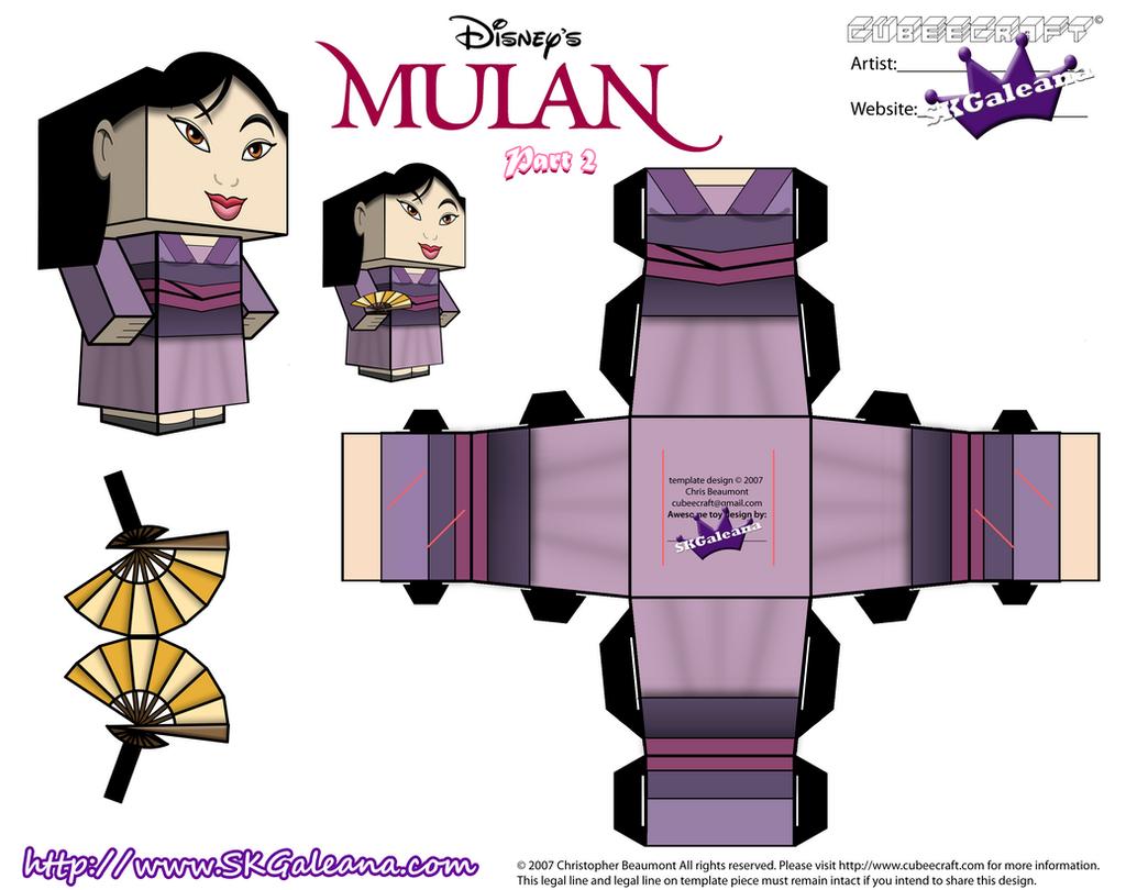 disney princess mulan cubeecraft purple dress pt2 by