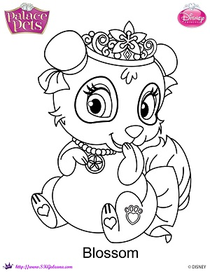 Princess palace pets blossom coloring page by skgaleana on for Princess pets coloring pages