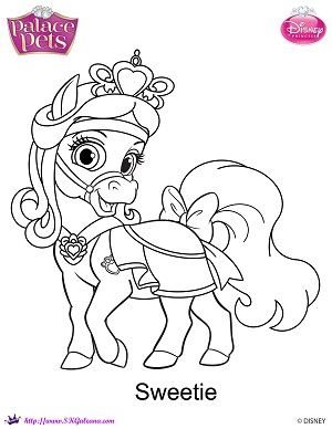 Princess Palace Pets Sweetie Coloring Page By Skgaleana On Princess Pets Coloring Pages